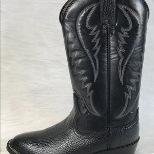 Express rider faux leather western cowboy boots